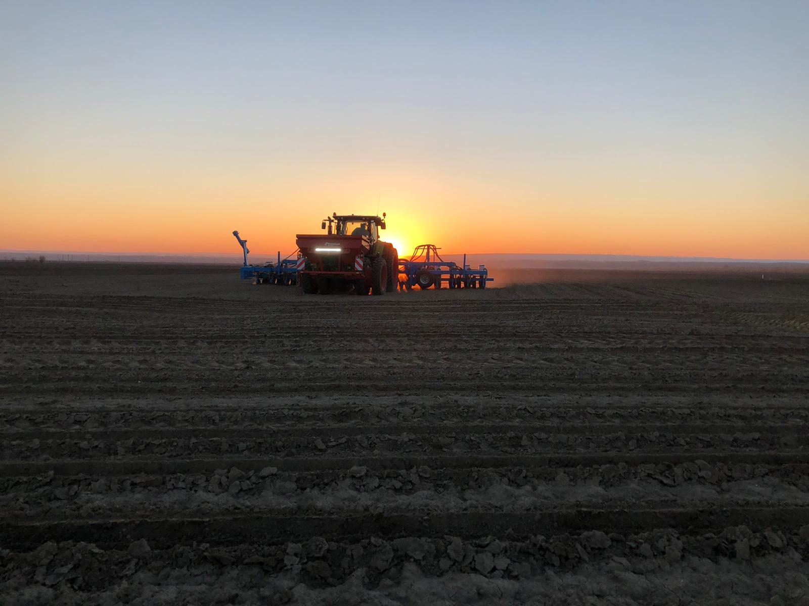 Despite the early date we decided to start the corn planting Europe-wide.